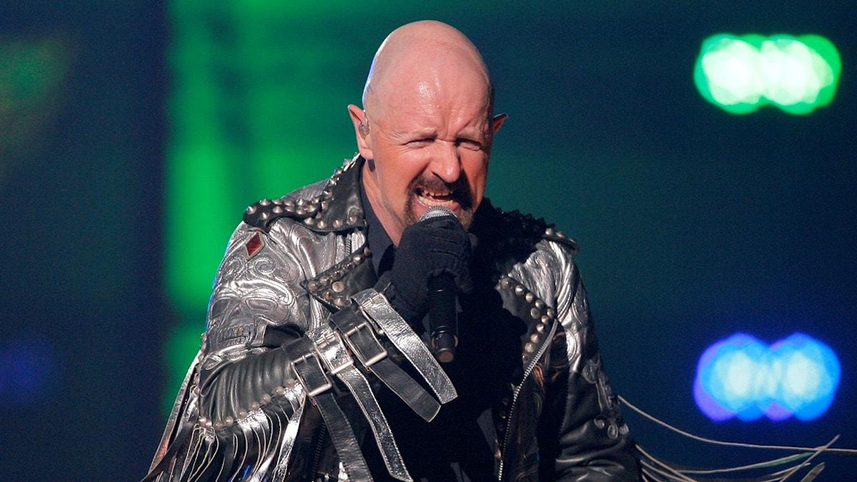Rob Halford spelar med Judas Priest på VH1 Rock Honors i Las Vegas.