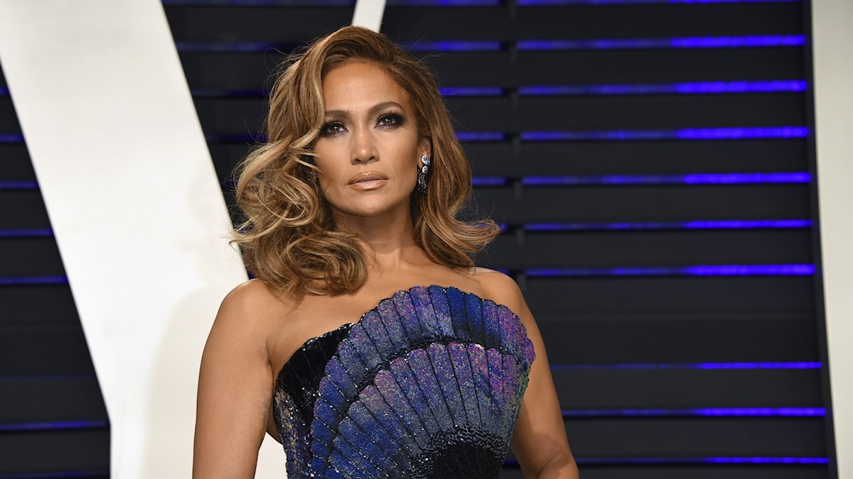 Jennifer Lopez på Vanity Fairs Oscars-efterfest 2019.