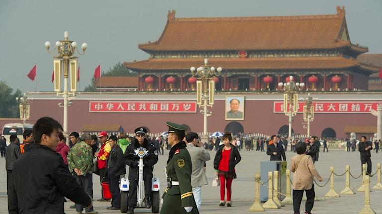 Himmelska fridens torg i Peking.