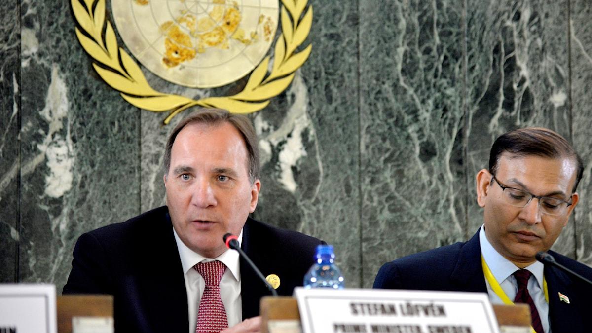 Stefan Löfven i FN:s generalförsamling