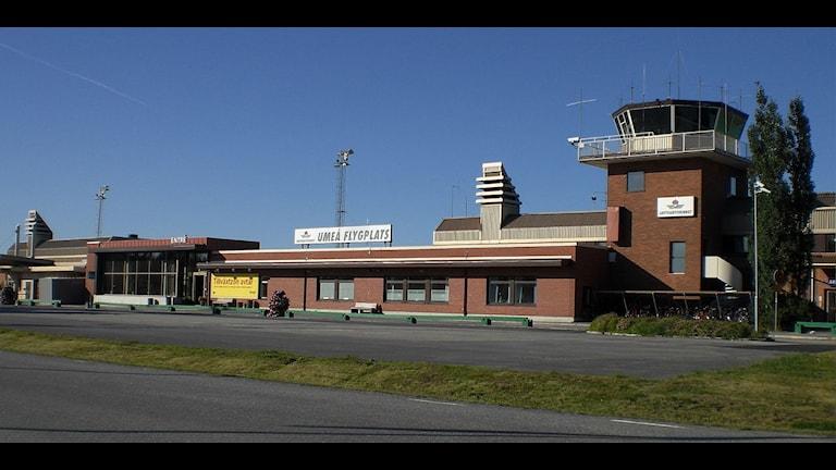 Här från Umeå airport skulle tre ungdomar ha räddats från att åka och strida för Islamiska staten. Foto: Mikael Lindmark CC BY-SA