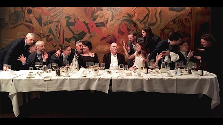 Ica-Stigs sista måltid. Foto: Servitris på KB