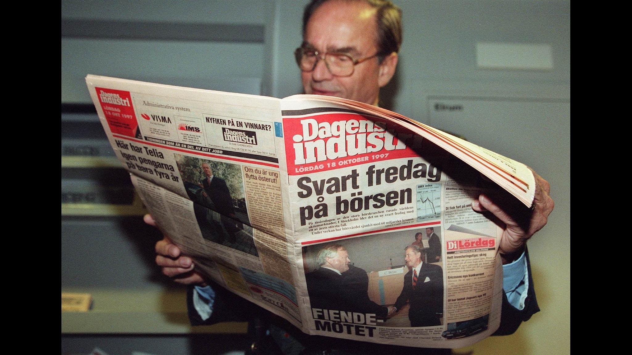 Tidningen Dagens Industri. Foto: Tobias Röstlund/TT Nyhetsbyrån
