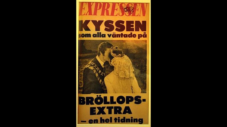 Kyssen. Foto: Expressen/Jonny Graan