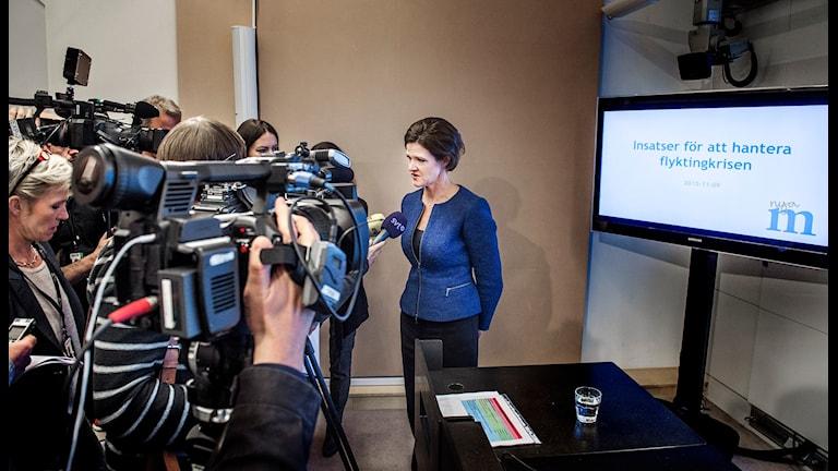 Moderaternas partiledare Anna Kinberg Batra intervjuades i veckan i samband med att partiet presenterar ett migrationspolitiskt förslag. Tomas Oneborg/SvD/TT