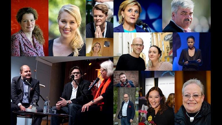 Tidigare paneldeltagare i Mediernas årssamtal. Foto: TT