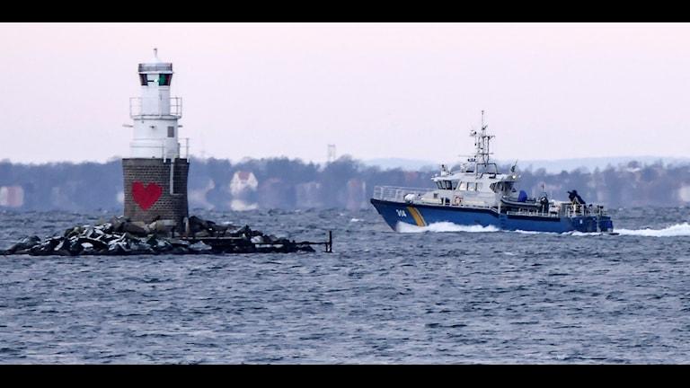 Kustbevakningen patrullerar Öresund