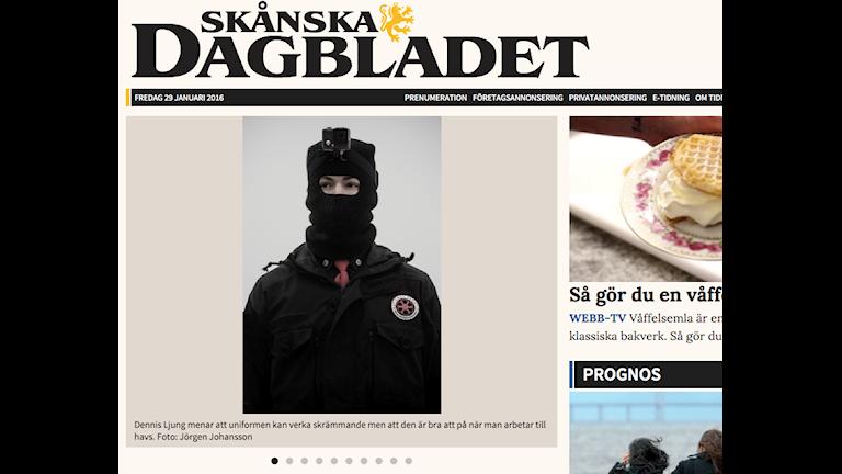 Skånska Dagbladet publicerar bilder på nätverket som sägs patrullera Öresund.
