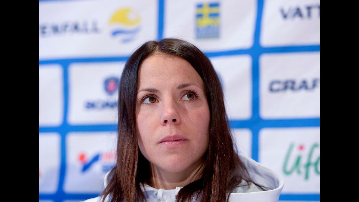 Charlotte Kalla var pressad av dåliga resultat i veckan.