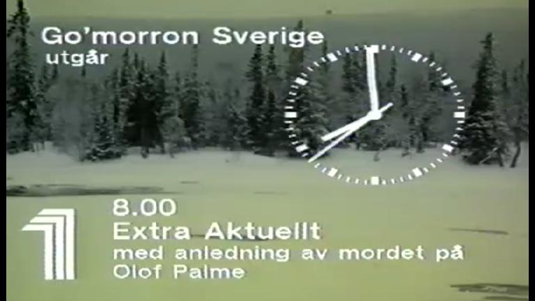 Skärmdump SVT Aktuellt 19860301