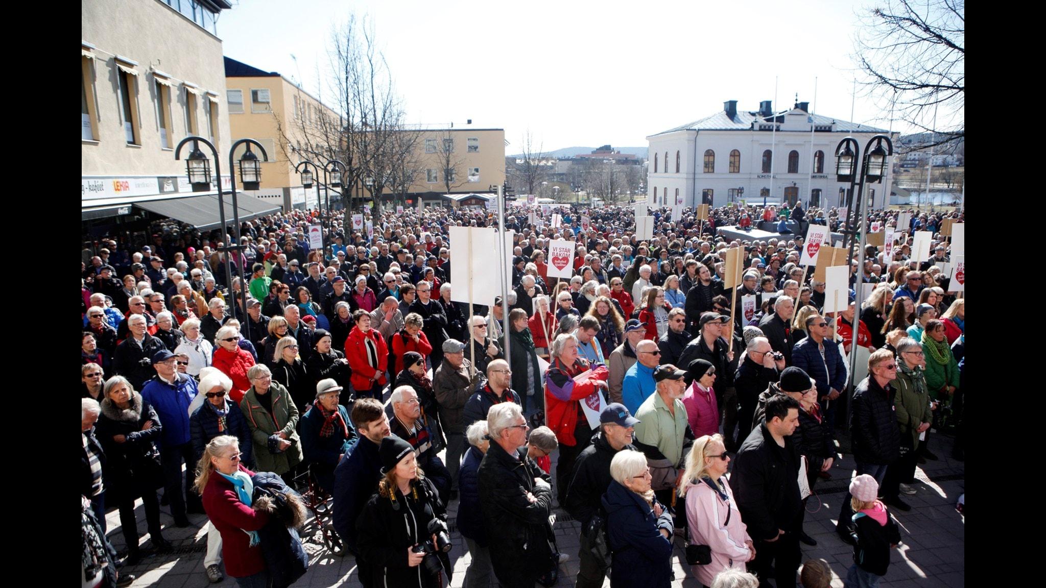 Sjukhusdemonstration i Härnösand.
