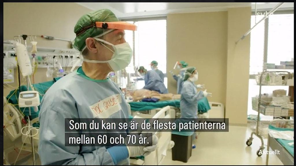 SVT Nyheter hade bilder på döende personer inifrån en italiensk intensivvårdsklinik.