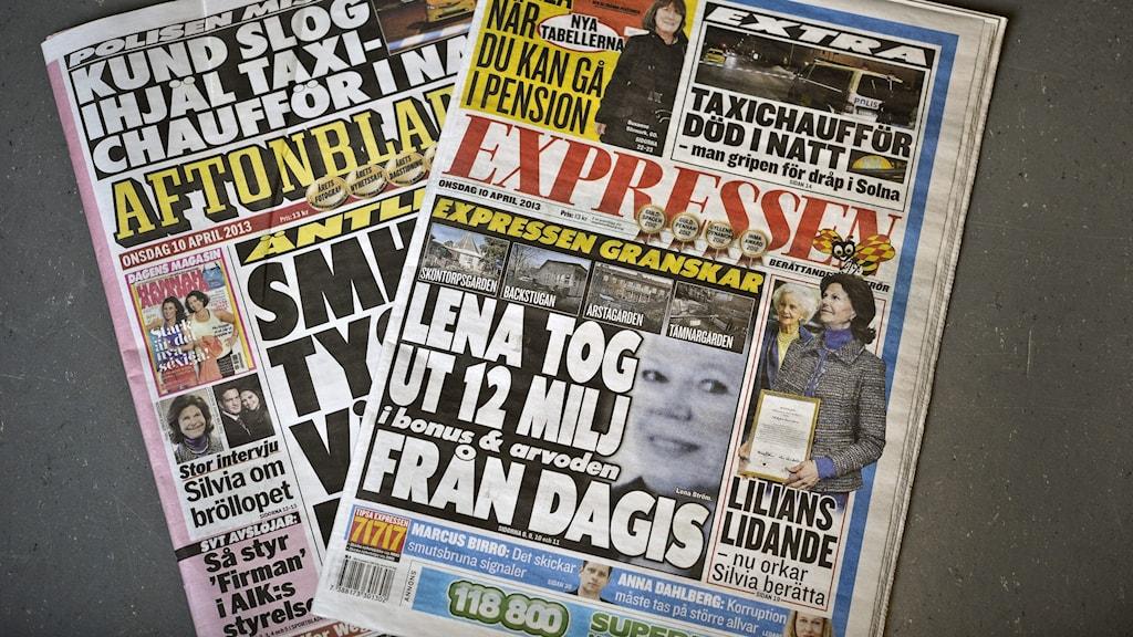 Aftonbladet och Expressen.