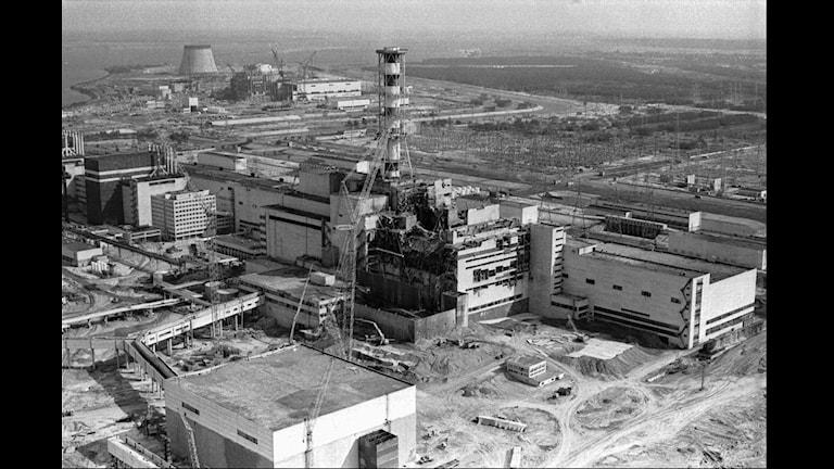 Reaktor fyra vid kärnkraftverket i Tjernobyl