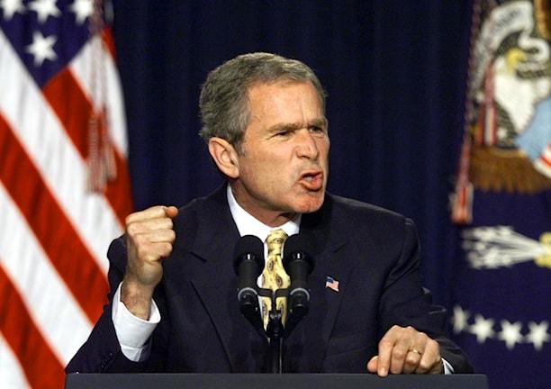 Dåvarande presidenten i USA George W Bush.