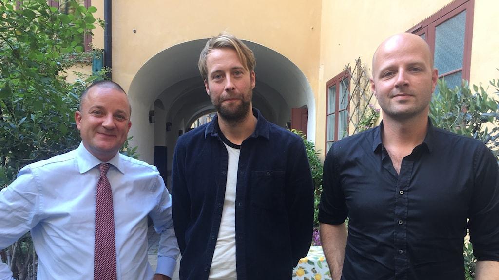 Jakob Scharf, Johan Cedersjö och Morten Skjoldager
