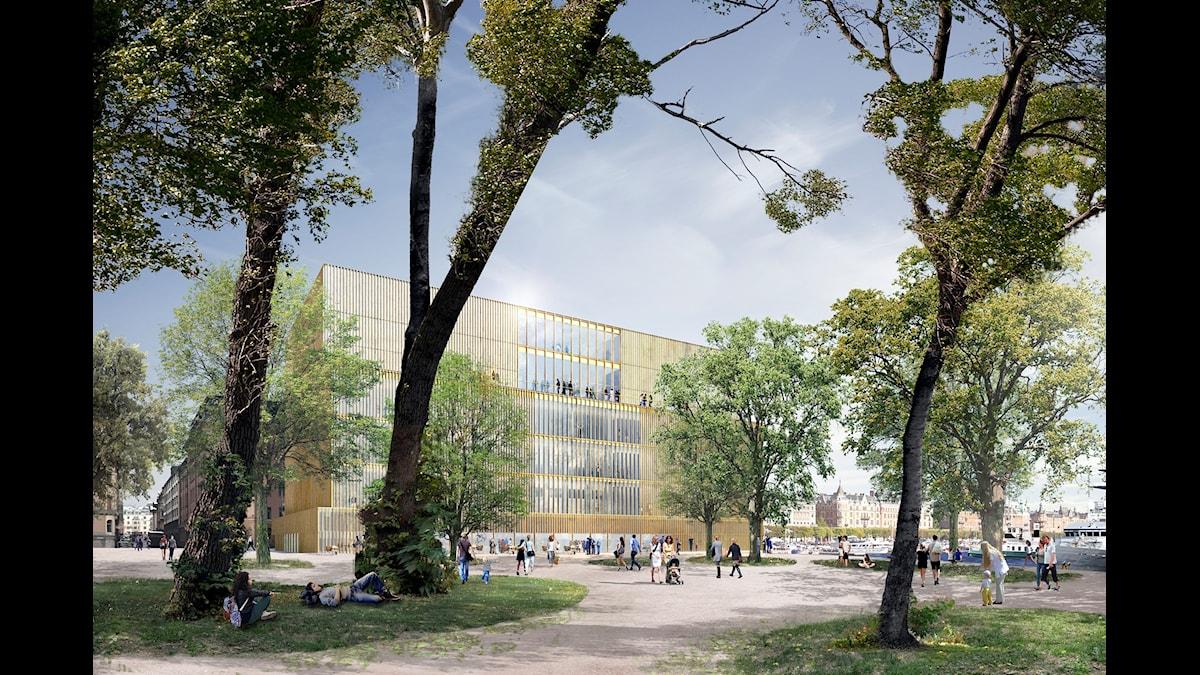 Skiss över Nobelcenter i Stockholm.