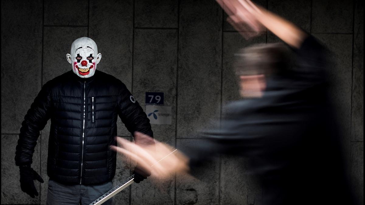 Skrämmande clown
