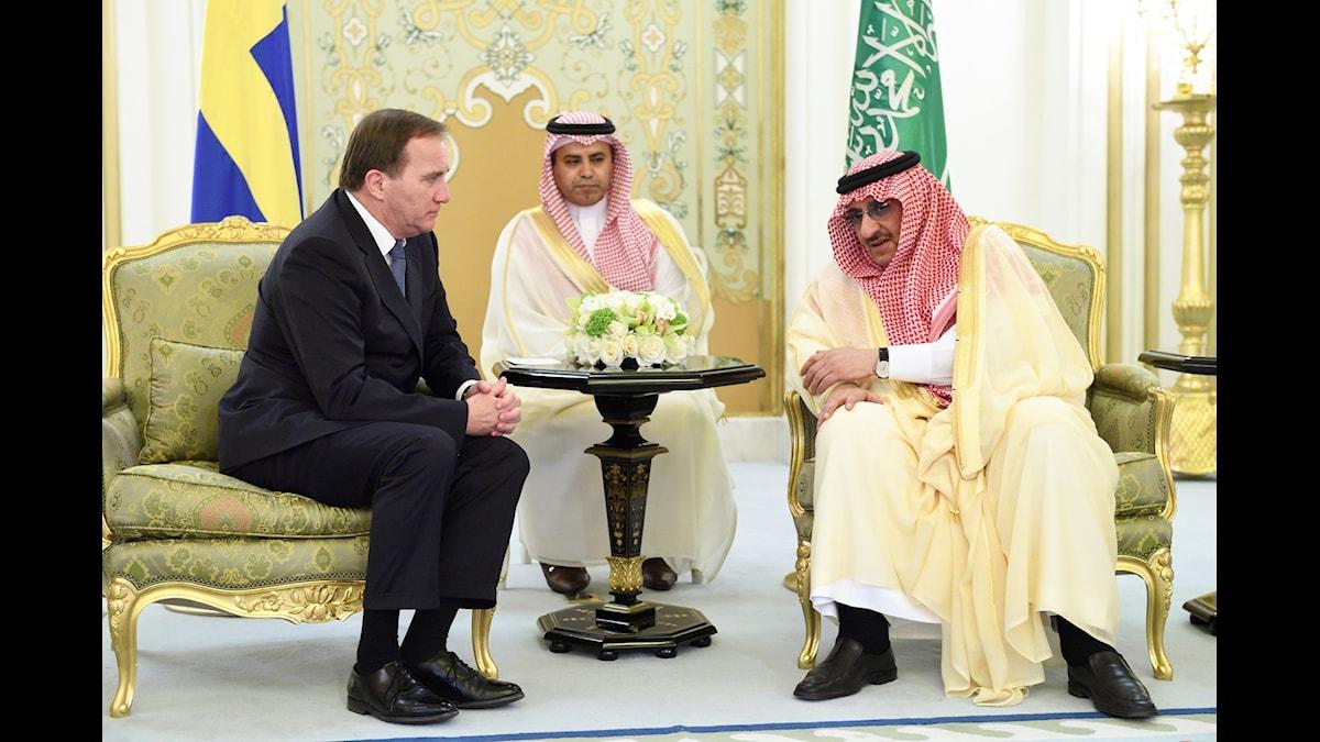 Statsminister Stefan Löfvens resa till Saudiarabien offentliggjordes i sista stund - för alla utom TT.