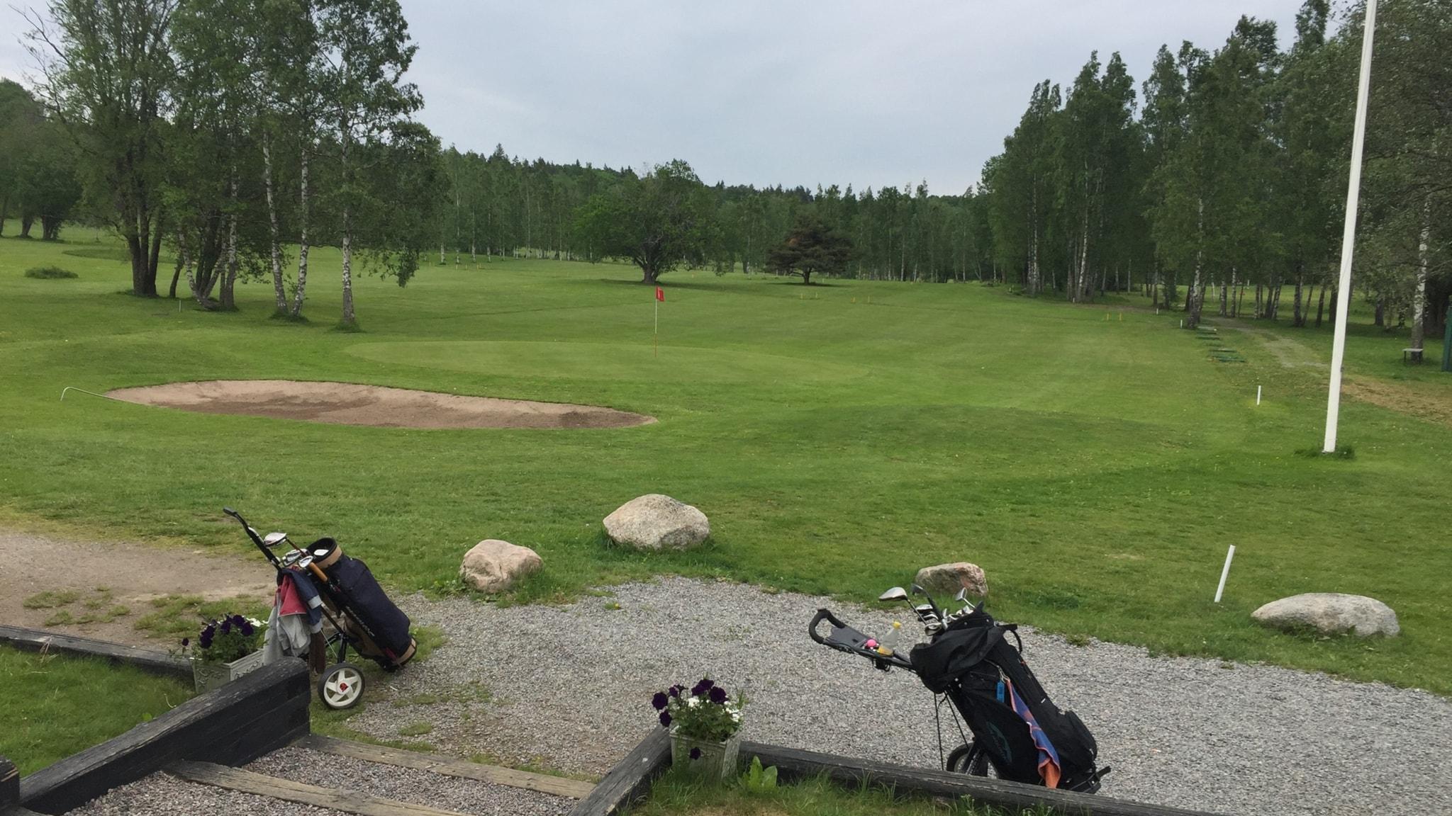 Nionde hålet på Danderyds golfklubbs bana.