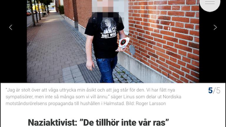 Skärmdump på Hallandspostens artikel