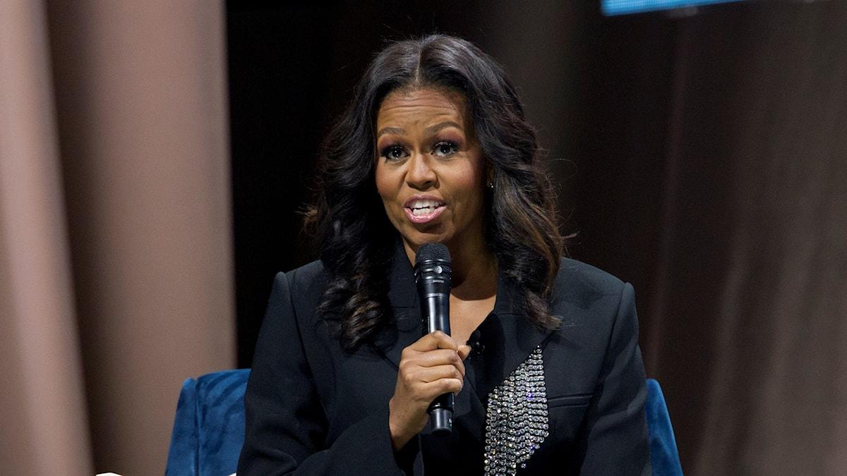 Michelle Obama på bokturné.