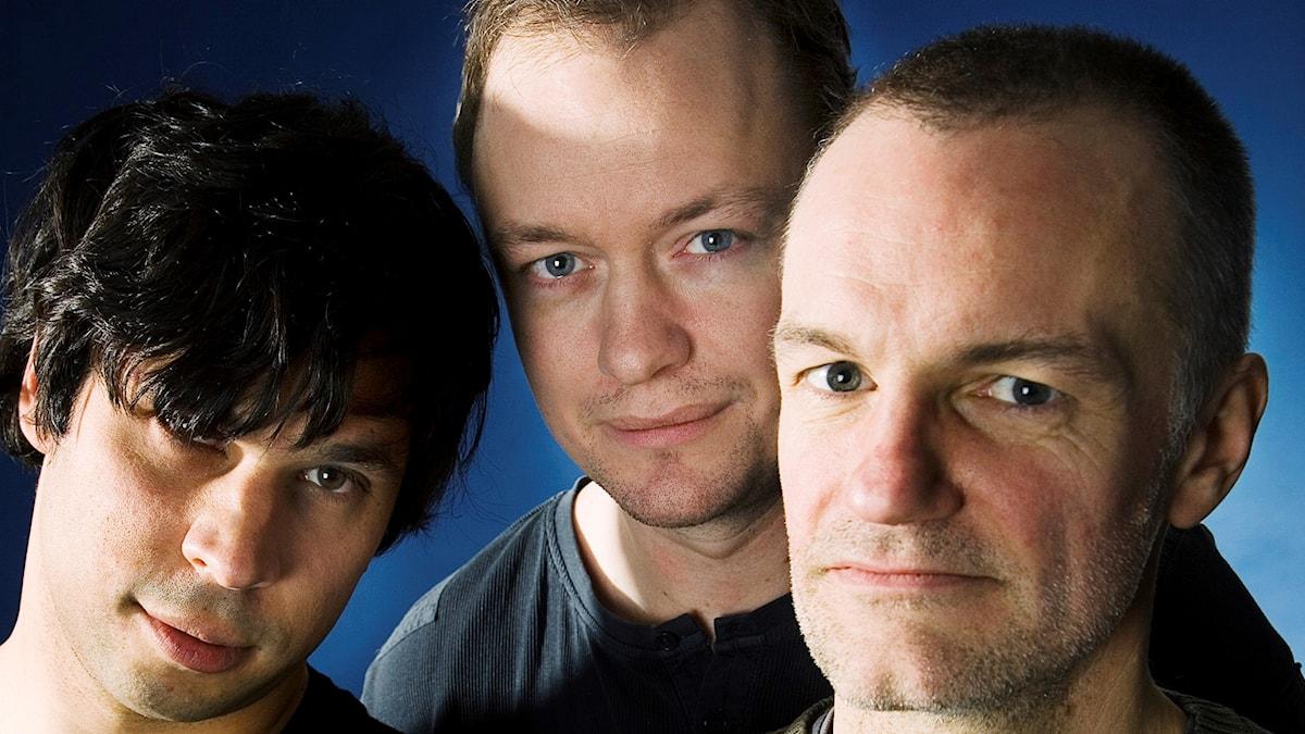 Martin Wicklin, Petter Ljunggren och Lars Truedson startar programmet Medierna 2007.
