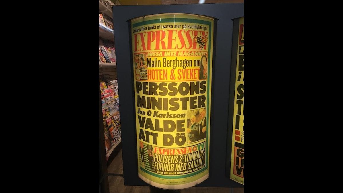 Expressen löp efter Jan O Karlssons död