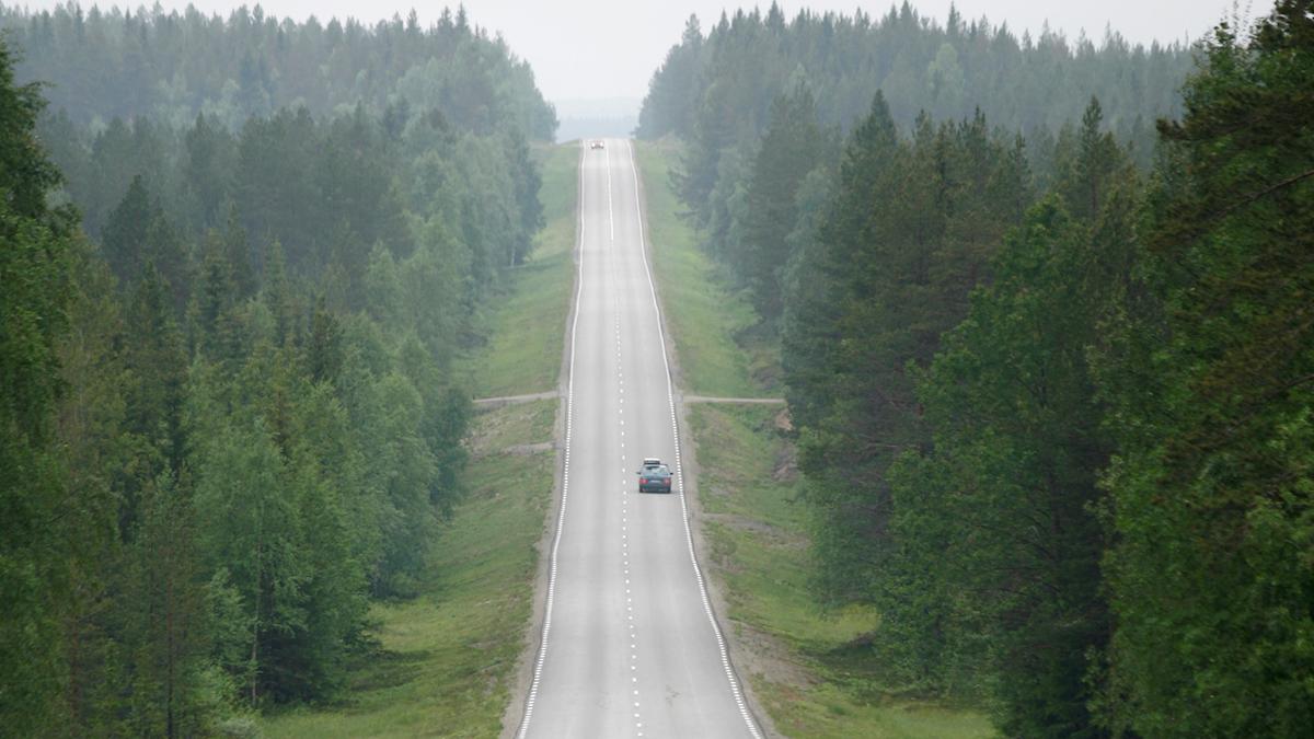 Landsväg i Västerbotten