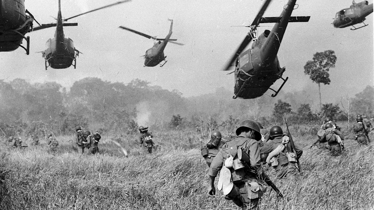 Soldater under kriget i Vietnam.