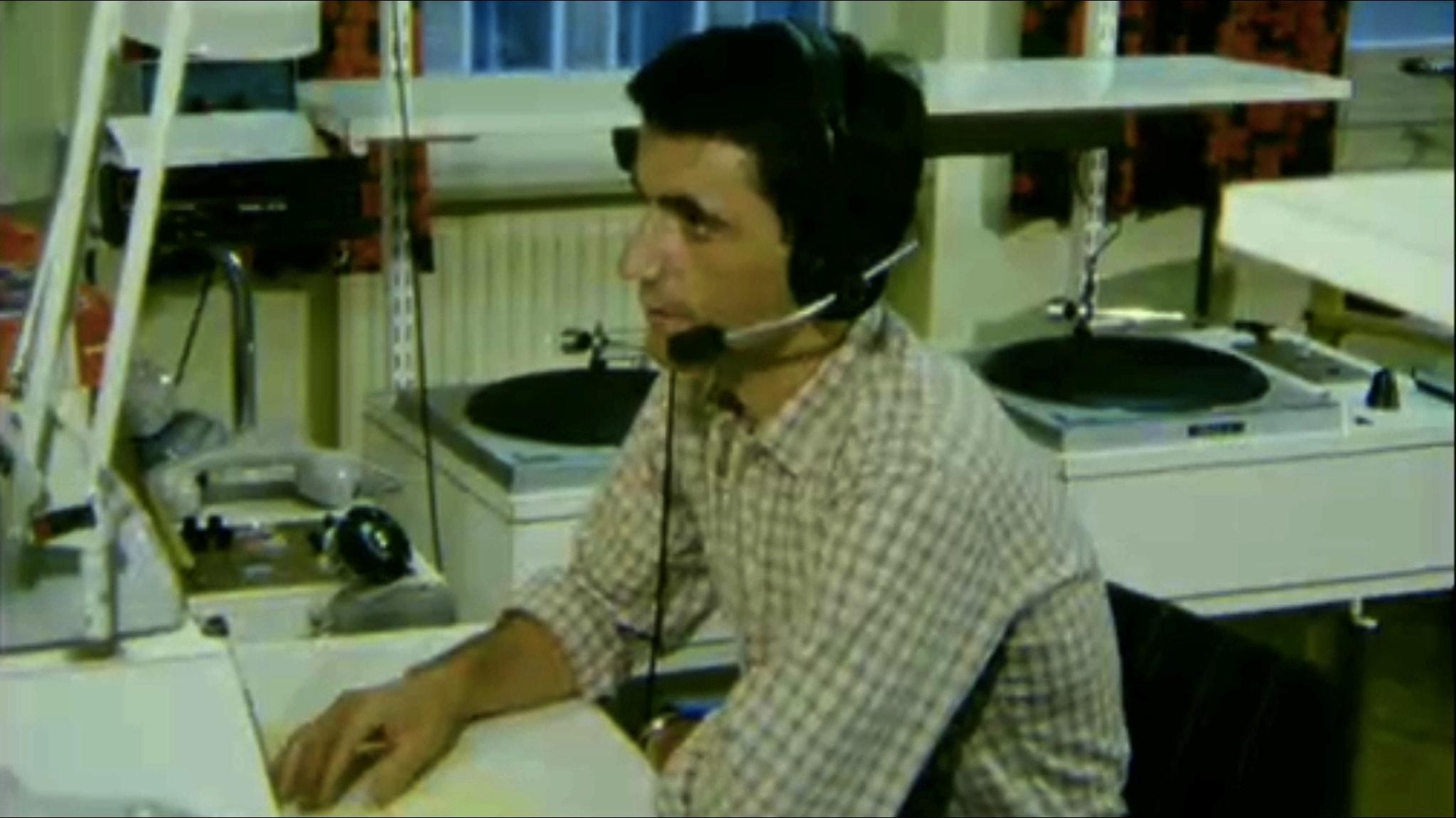 Tonchi Percan på Sveriges Radio Malmöhus 1980