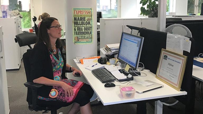 Marie Hillblom, chefredaktör för Katrineholms Kuriren.