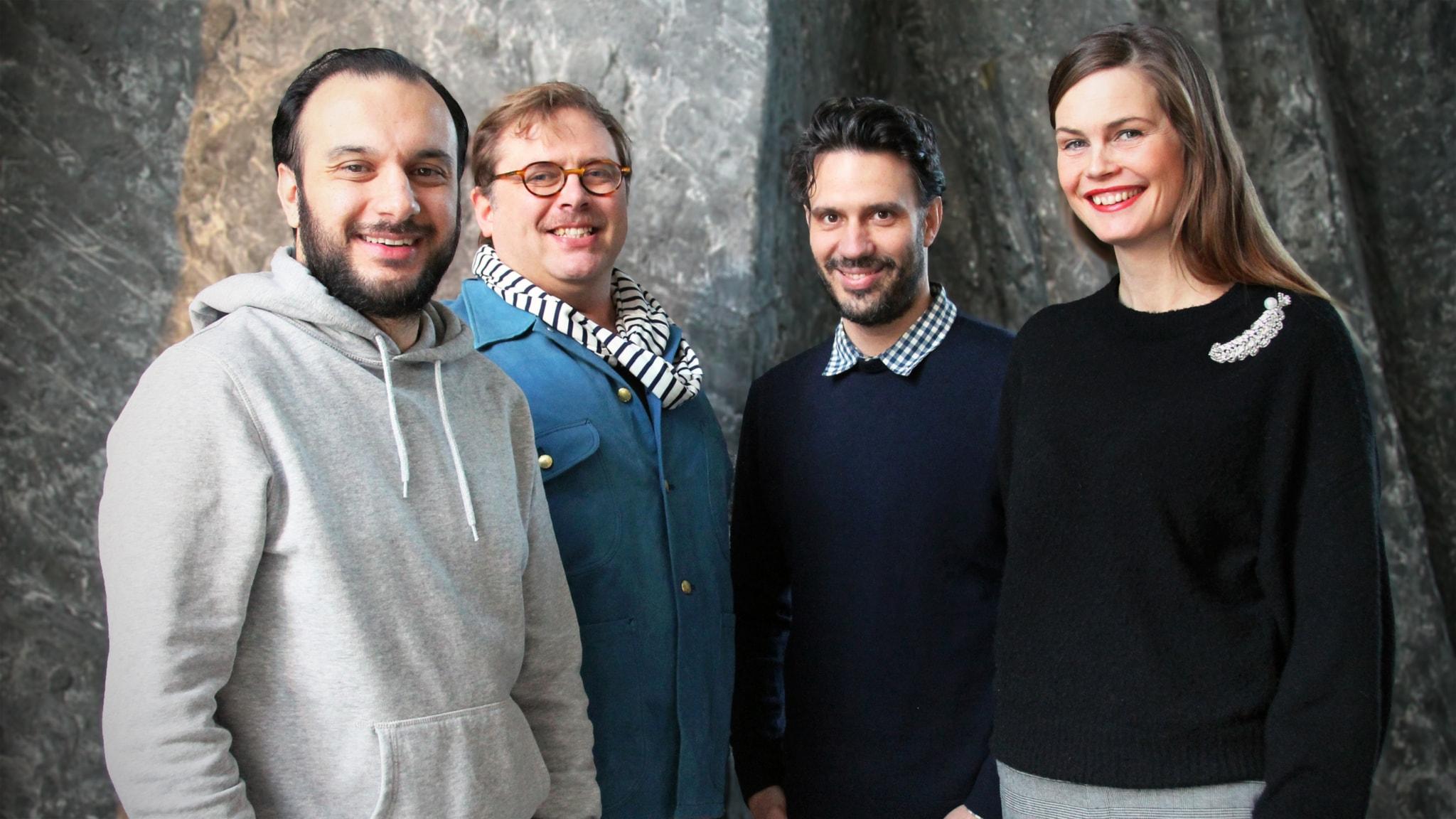Med Jenny, Dejan, Farzad och August