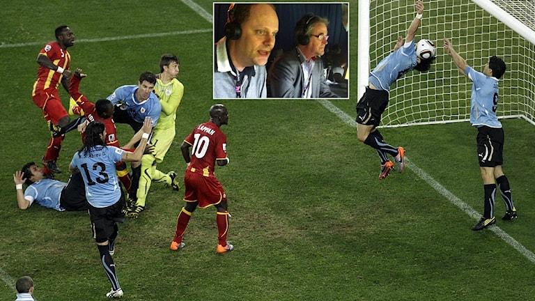 VM 2010 Uruguay mot Ghana, Lasse Granqvist. Foto: TT och SR