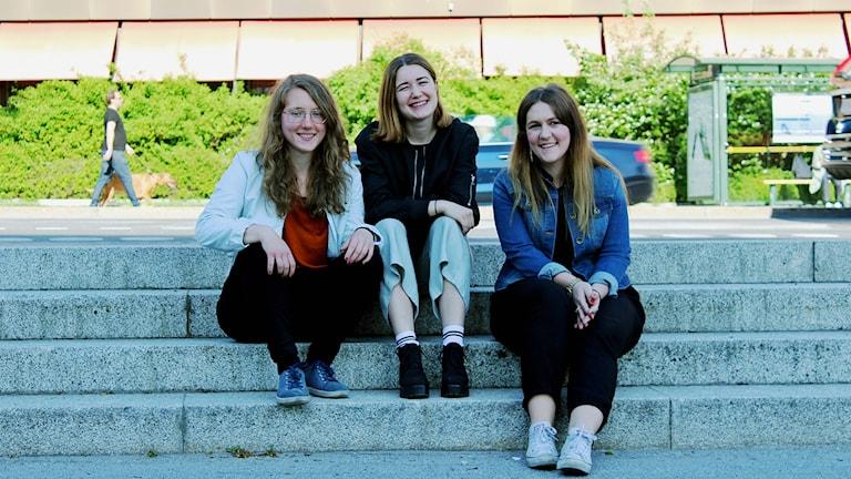 Lisa Gudmundsson, Freja Drakenberg och Frida Holmgren.