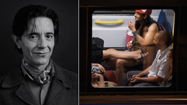 José Figueroa och en bild ur hans nya bok.