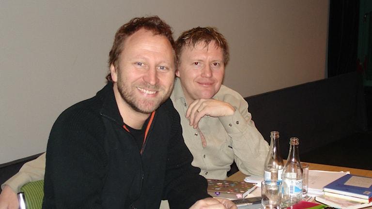Foto på Sören Olsson och Anders Jacobsson