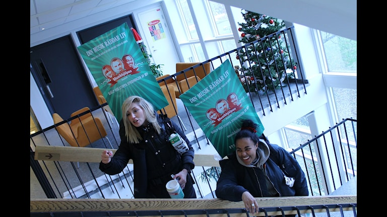 Foto på Lisa och Amie