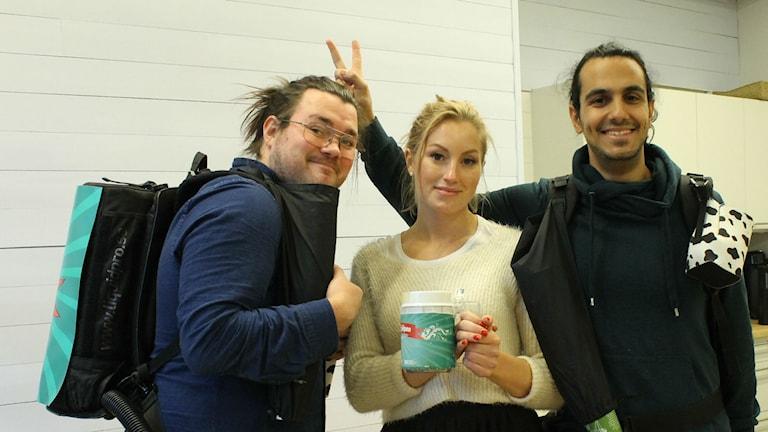 Lisa, Johan och Gurgin gruppbild.