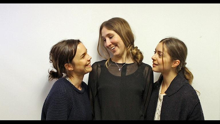 Felice Jankell, Amanda Adolfsson och Hedda Stiernstedt