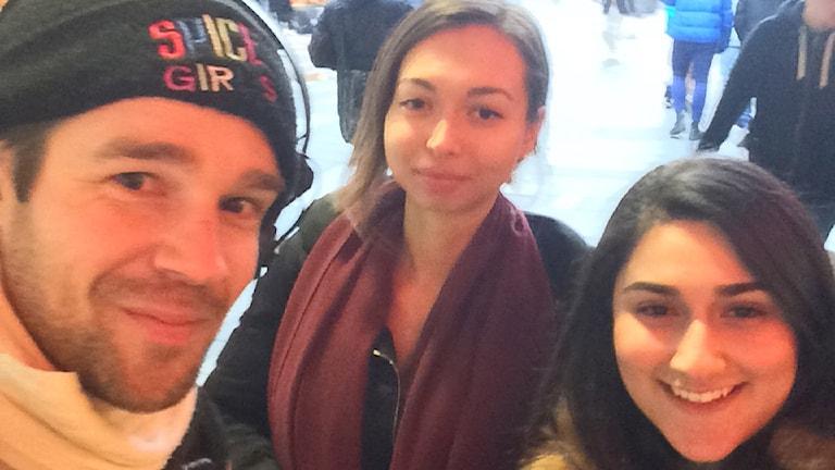 Selfie-Rasmus med Jennifer och Kristin