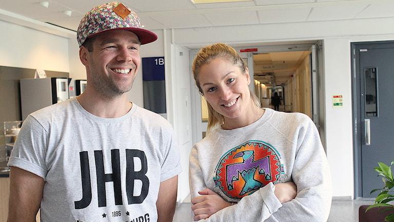 Rasmus Almerud och Lisa Friberg sänder Eftermiddag i P5 STHLM.