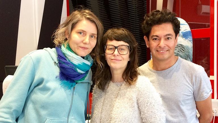 Radioprofilerna Agneta Karlsson, Anna Charlotta Gunnarsson och David Silva.
