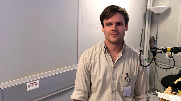 Fredrik Lindblå från The Rojava Electricity Project. Foto: Farzad Nouri/Sveriges Radio