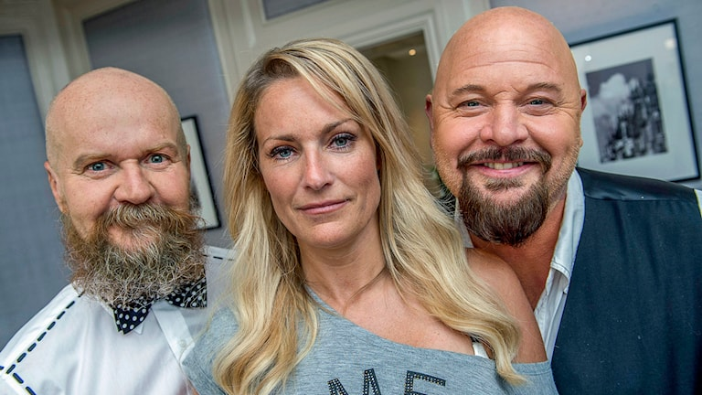 Alexander Bard, Laila Bagge och Anders Bagge. Foto Jonas Ekströmer /TT.