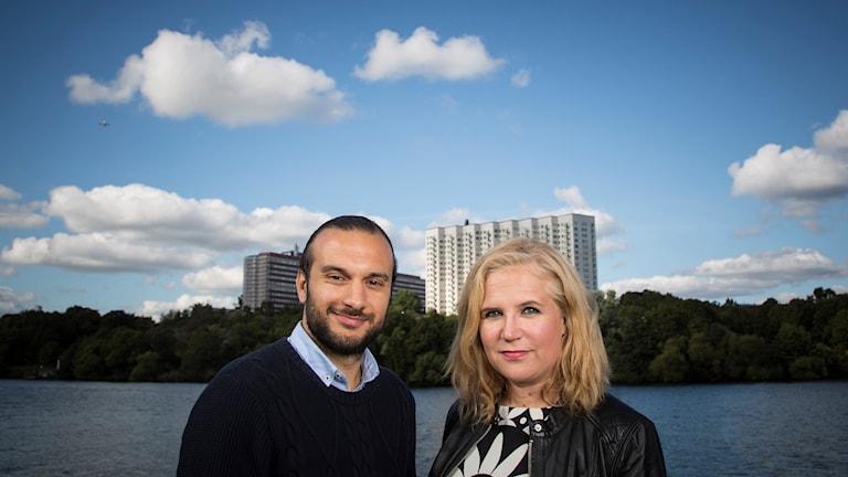 Farzad Nouri och Kim Kärnfalk. Foto: Micke Grönberg/Sveriges Radio