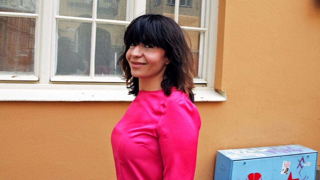 Sarah Delshad, journalist, debattör och grundare av Muslimska feminister. Foto: Karl Skagerberg.
