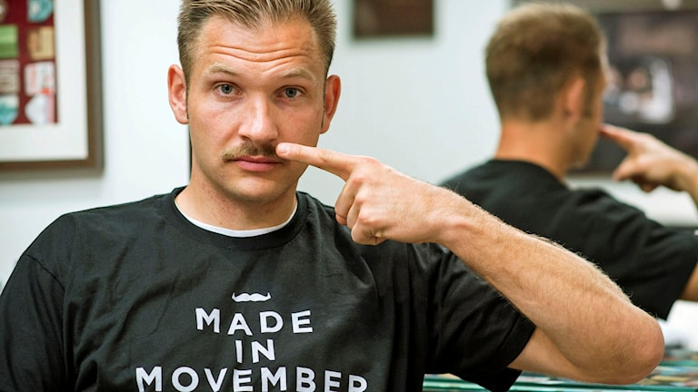 John Alvbåge. Foto: Movember /TT.