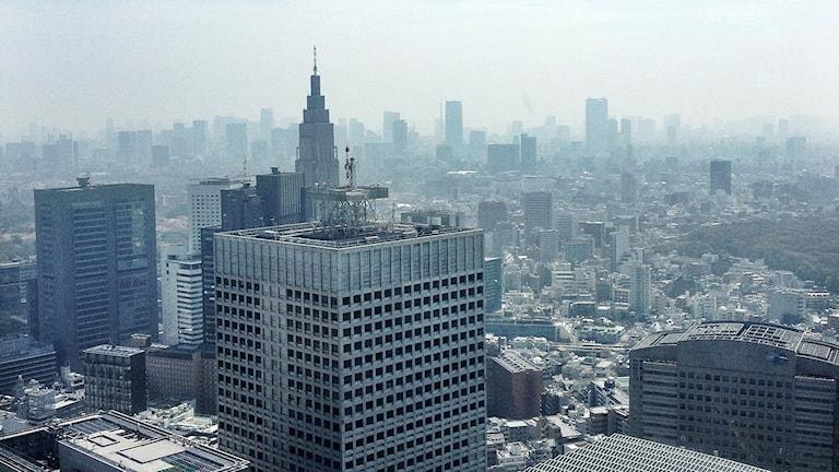 Vy över Tokyo. Foto: Madeleine Rollenhagen/Sveriges Radio