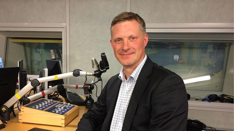 Robert Egnell, docent i krigsvetenskap vid Försvarshögskolan i Stockholm. Foto: Simon Garshasebi/Sveriges Radio